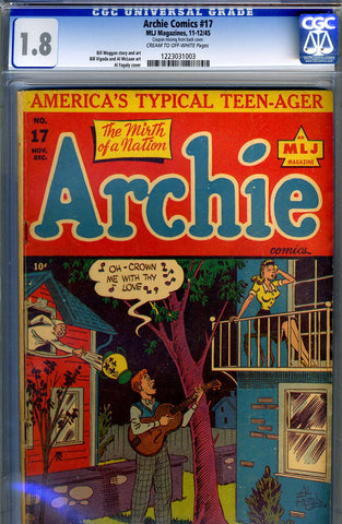 Archie Comics #17   CGC graded 1.8