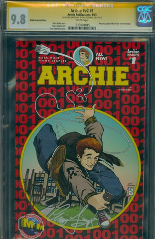 Archie #V2 #1  CGC graded 9.8 - M&M Comics Edition - HG (signed) - SOLD!