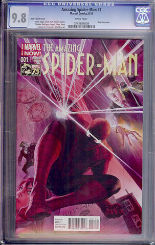 Amazing Spider-Man #001  CGC graded 9.8 -Ross Variant- HG - SOLD!