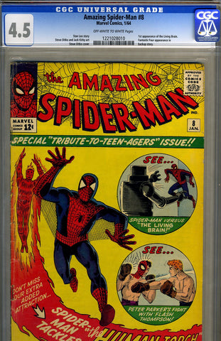 Amazing Spider-man #008   CGC graded 4.5 - first Thompson fight