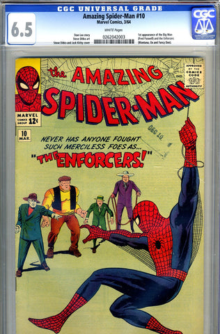 Amazing Spider-Man #010   CGC graded 6.5 - SOLD!