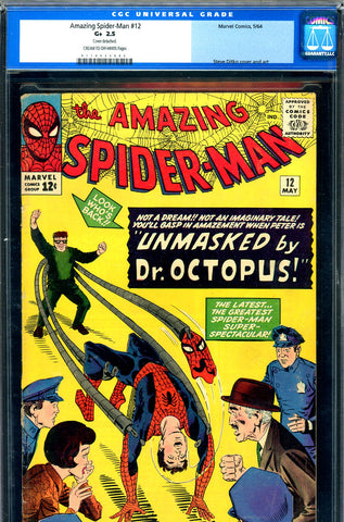 Amazing Spider-Man #012 CGC graded 2.5 third Doctor Octopus SOLD!