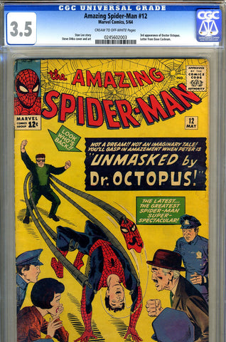 Amazing Spider-Man #012  CGC graded 3.5 - SOLD!