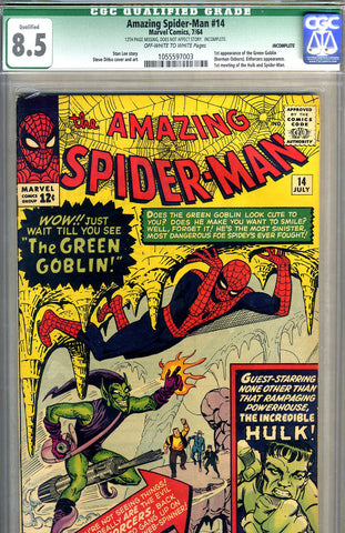 Amazing Spider-man #014   CGC graded 8.5  first Green Goblin SOLD!