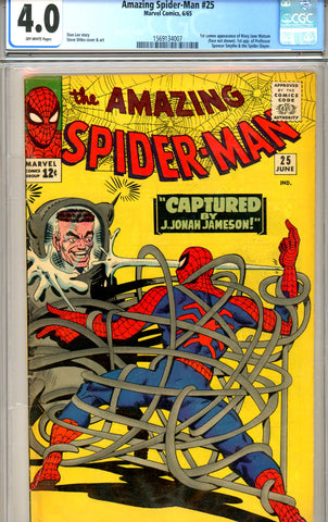 Amazing Spider-Man #025 CGC GRADED 4.0 first Mary Jane SOLD!