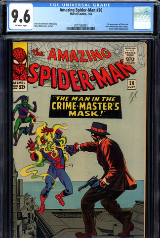 Amazing Spider-Man #026 CGC graded 9.6 first Crime-Master SOLD!