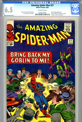 Amazing Spider-Man #027 CGC graded 6.5 vs Green Goblin and Crime-Master