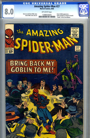Amazing Spider-Man #027   CGC graded 8.0 - SOLD!