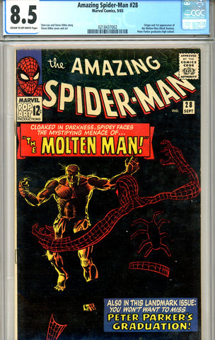 Amazing Spider-Man #028   CGC graded 8.5 first Molten Man SOLD!