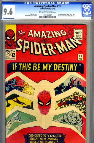 Amazing Spider-Man #031   CGC graded 9.6 - first Gwen Stacy - SOLD!