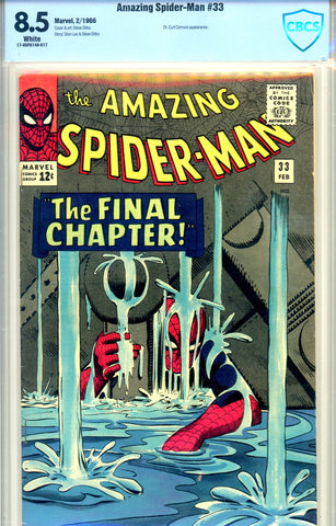 Amazing Spider-Man #033 CBCS graded 8.5 WP   SOLD!