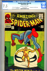 Amazing Spider-Man #035 CGC graded 7.5 second Molten Man