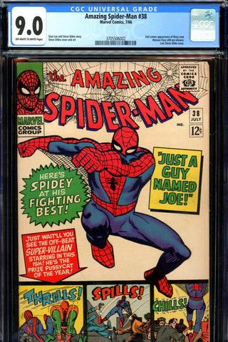 Amazing Spider-Man #038 CGC graded 9.0  2nd Mary Jane - SOLD!