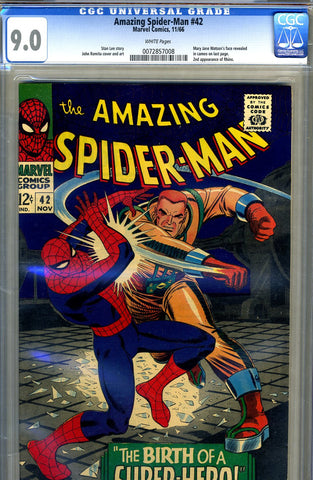 Amazing Spider-Man #042   CGC graded 9.0 - SOLD