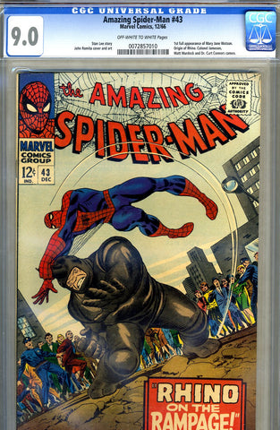 Amazing Spider-Man #043   CGC graded 9.0 - SOLD