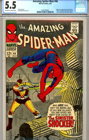 Amazing Spider-Man #046 CGC GRADED 5.5 first Shocker SOLD!