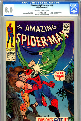 Amazing Spider-Man #049 CGC graded 8.0 2nd Blackie Drago - SOLD!