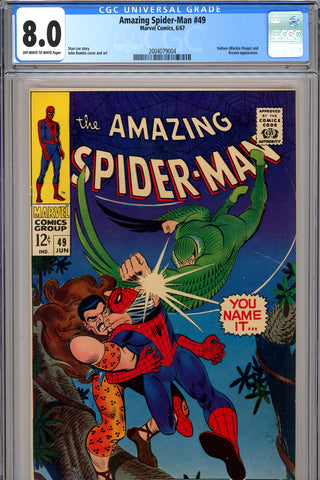 Amazing Spider-Man #049 CGC graded 8.0 SOLD!