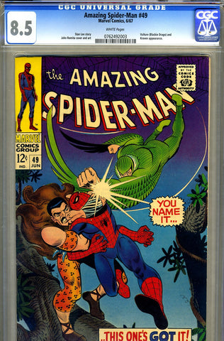 Amazing Spider-Man #049   CGC graded 8.5 - SOLD!