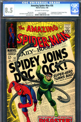 Amazing Spider-Man #056 CGC graded 8.5 first Captain Stacy