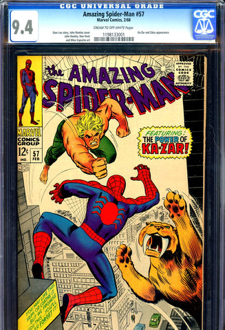 Amazing Spider-Man #057 CGC graded 9.4