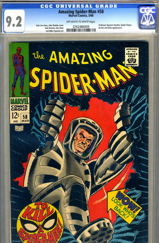 Amazing Spider-Man #058   CGC graded 9.2 - SOLD