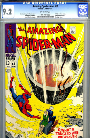 Amazing Spider-Man #061   CGC graded 9.2 SOLD!
