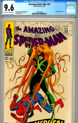 Amazing Spider-Man #062 CGC graded 9.6 SOLD!