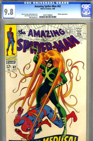Amazing Spider-Man #062   CGC graded 9.8 - HIGHEST GRADED - SOLD!