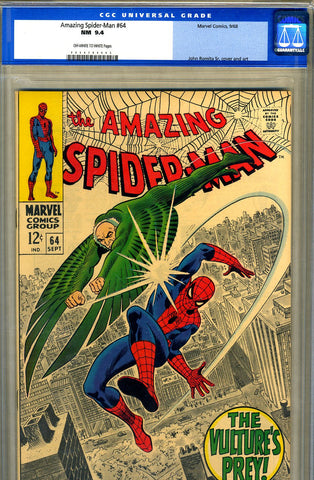 Amazing Spider-Man #064   CGC graded 9.4 - SOLD!