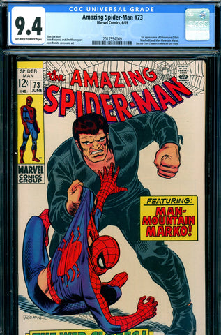 Amazing Spider-Man #073 CGC graded 9.4 1st Silvermane SOLD!