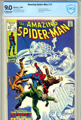 Amazing Spider-Man #074 CBCS graded 9.0 last 12c issue