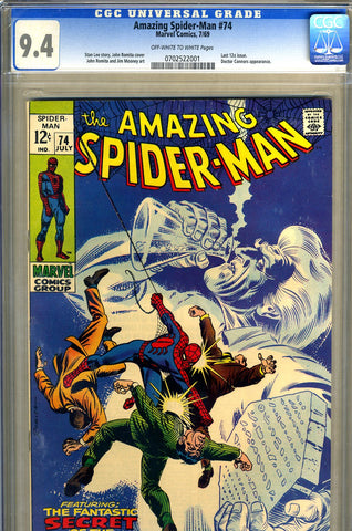 Amazing Spider-Man #074  CGC graded 9.4 - SOLD!