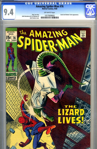 Amazing Spider-Man #076   CGC graded 9.4 - SOLD!