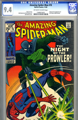 Amazing Spider-Man #078   CGC graded 9.4 - SOLD!