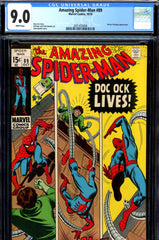 Amazing Spider-Man #089 CGC graded 9.0 white pages