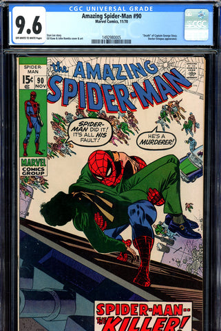 "Amazing Spider-Man #090 CGC graded 9.6 ""Death"" issue - SOLD!"