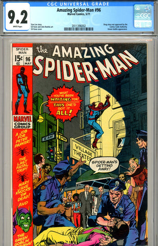 Amazing Spider-Man #096 CGC graded 9.2 WP SOLD!