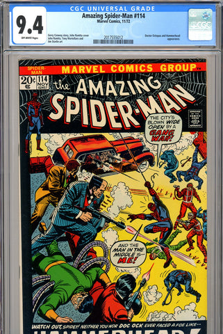 Amazing Spider-Man #114 CGC graded 9.4  black cover SOLD!