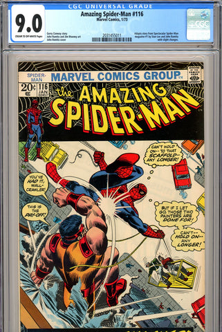 Amazing Spider-Man #116 CGC graded 9.0 John Romita cover - SOLD!