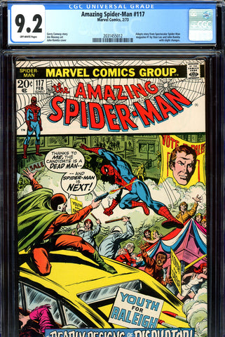 Amazing Spider-Man #117 CGC graded 9.2  John Romita cover SOLD!