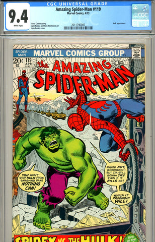 Amazing Spider-Man #119 CGC graded 9.4 battles Hulk - SOLD!