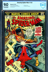 Amazing Spider-Man #123 CBCS graded 9.0 - Gwen Stacy's funeral