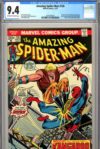 Amazing Spider-Man #126 CGC graded 9.4 Harry becomes Green Goblin SOLD!