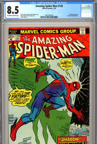 Amazing Spider-Man #128 CGC graded 8.5  SOLD!