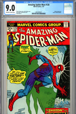 "Amazing Spider-Man #128 CGC graded 9.0 ""Vulture"" story - SOLD!"