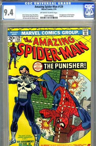 Amazing Spider-Man #129   CGC graded 9.4 - SOLD