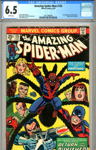 Amazing Spider-Man #135 CGC graded 6.5 second Punisher SOLD!