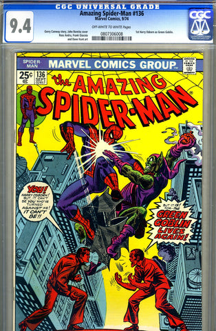 Amazing Spider-Man #136   CGC graded 9.4 - SOLD