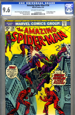 Amazing Spider-Man #136   CGC graded 9.6 - SOLD